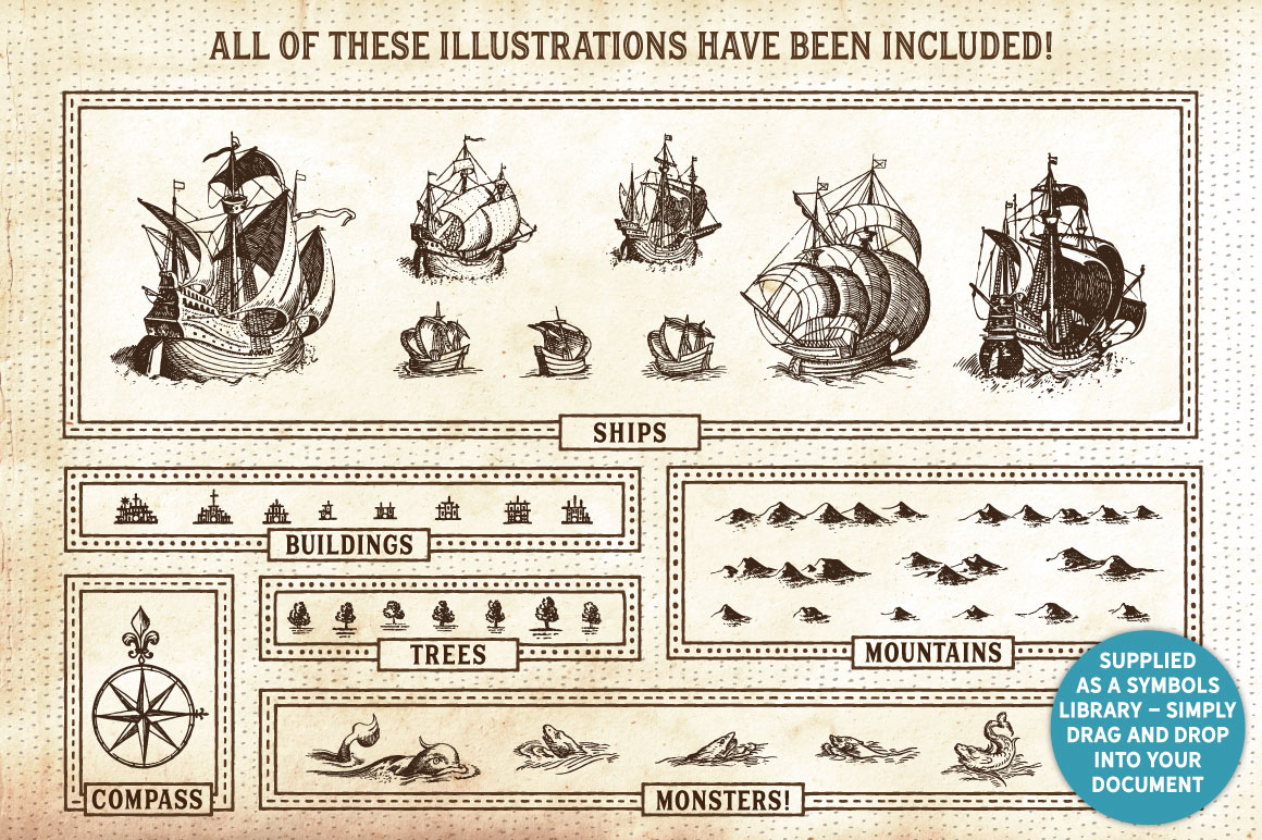 The Vintage Nautical Map Maker - Affinity