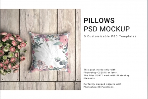 Throw Pillows Mockup Set
