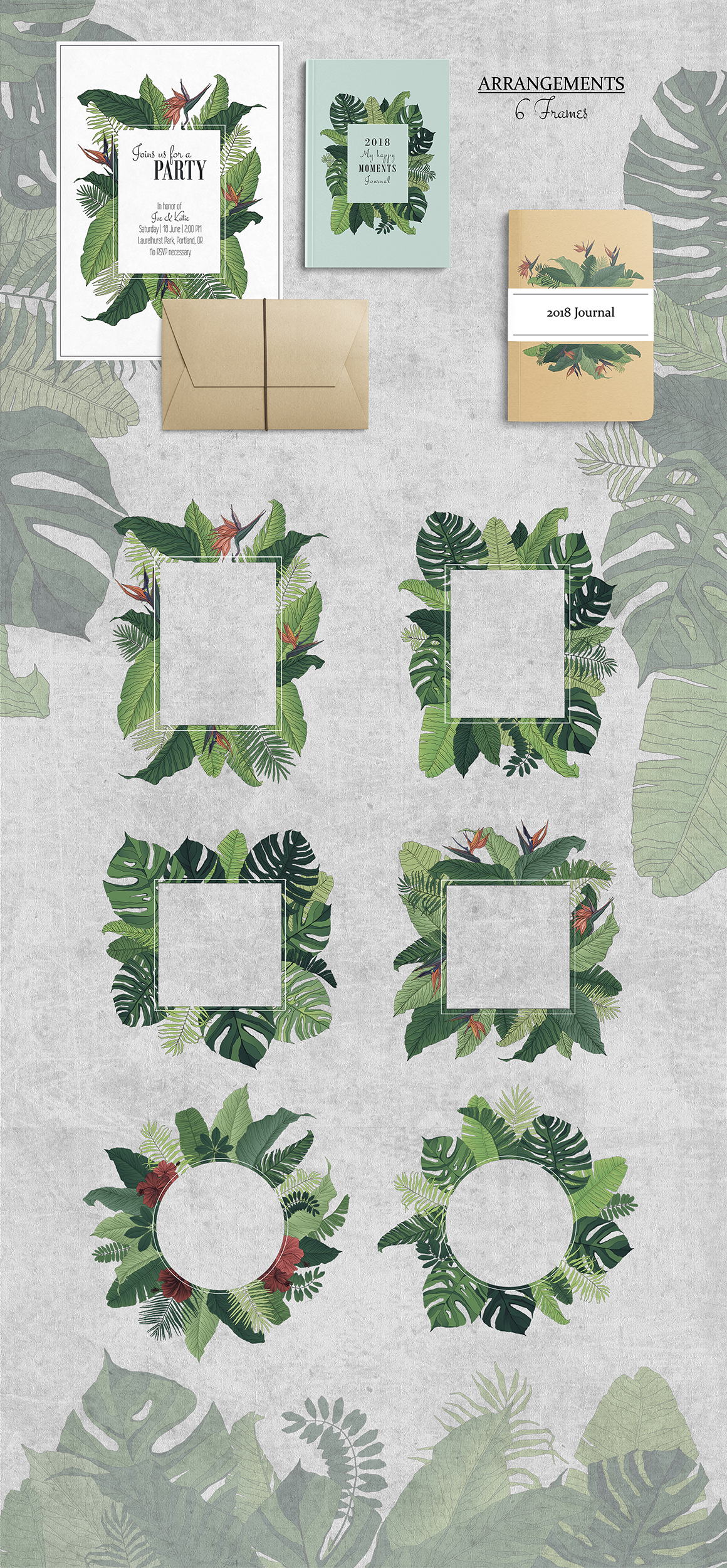 Tropical: Elements & Patterns