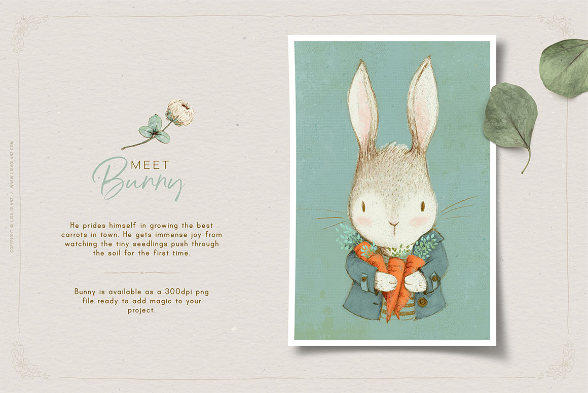 Vintage Inspired Animals Portraits & Botanicals