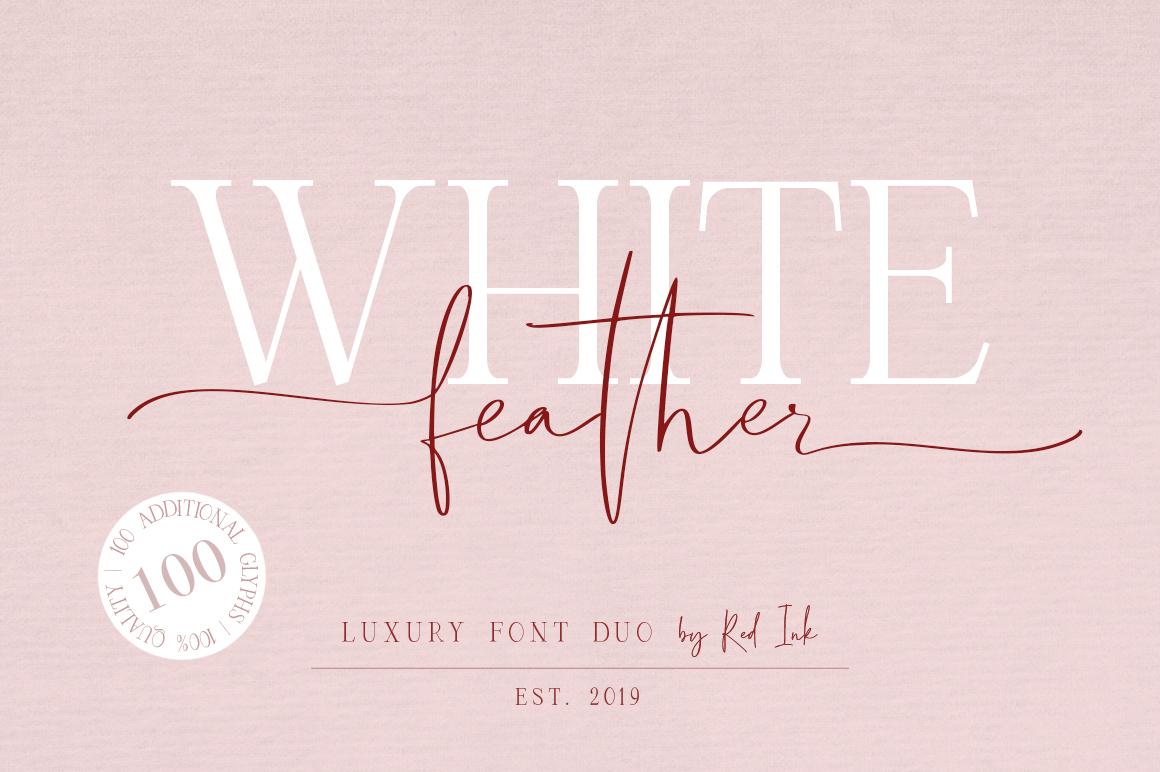 White Feather Luxury Duo Font