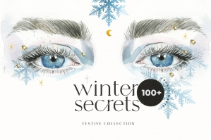 Winter Secrets - Christmas Watercolor Magical Set