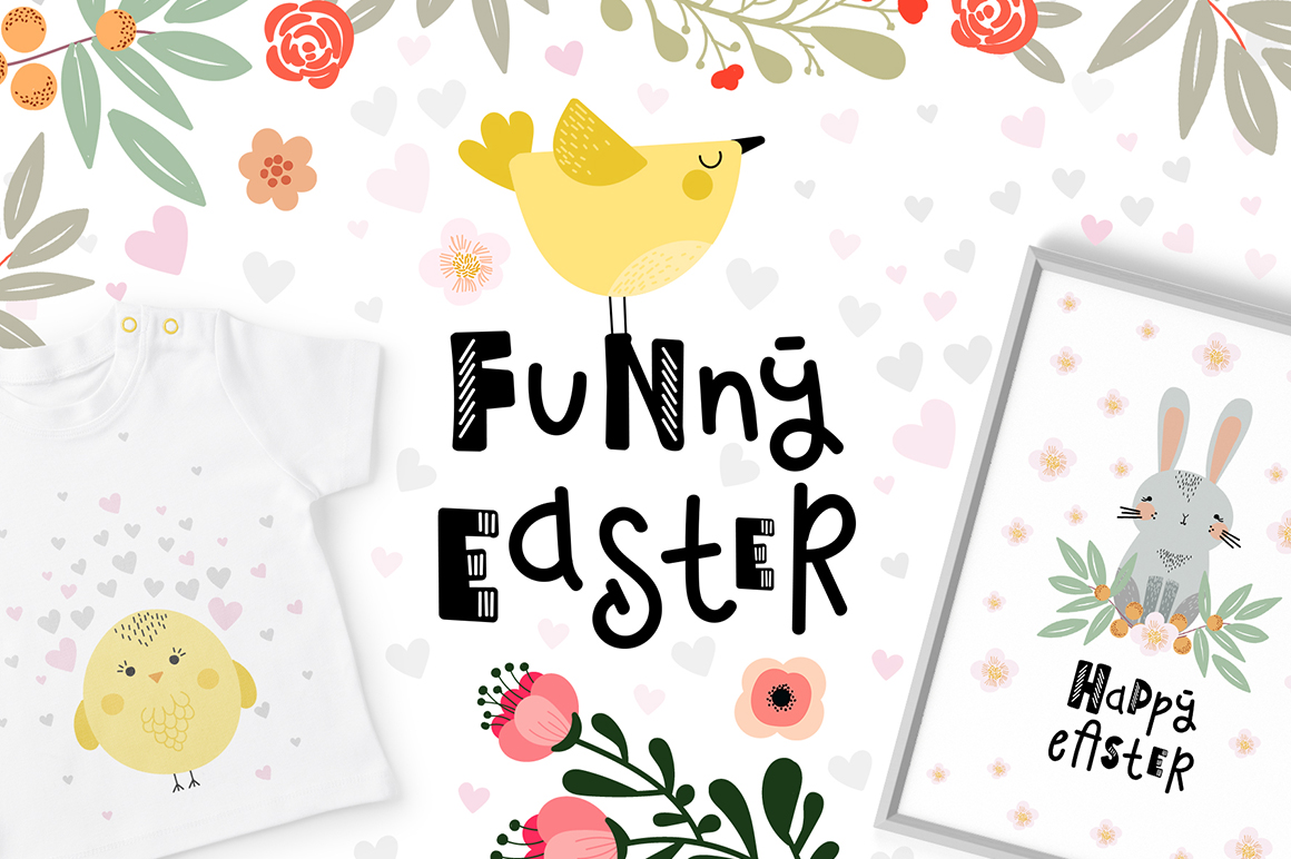 Funny Easter - Vector Easter Graphic