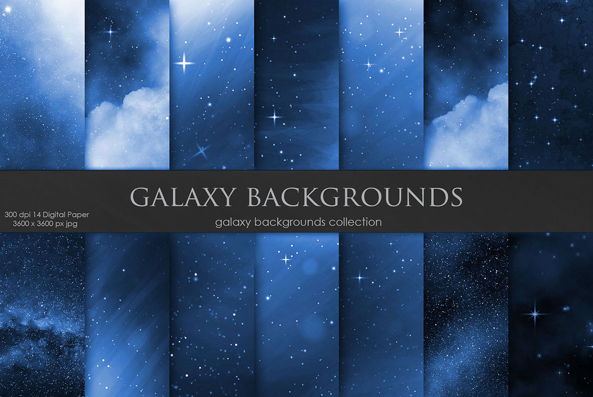 Galaxy and Space Navy Blue Backgrounds