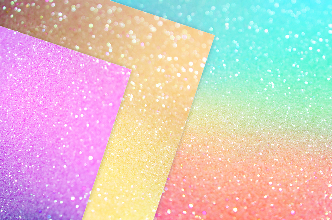 Iridescent Foil and Glitter Textures
