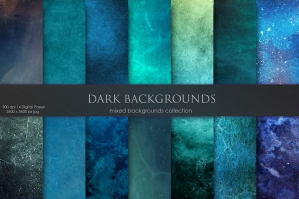 Navy & Dark Watercolor Backgrounds