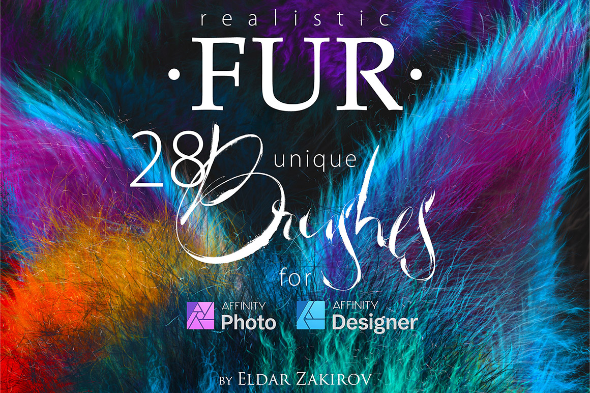 Realistic Fur Brushes 4 Affinity Photo & Designer