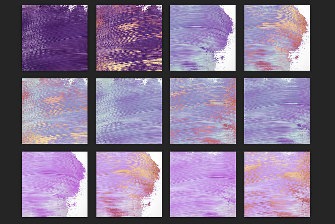 Rose Gold Oil Paint Backgrounds