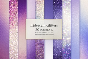 Rose and Purple Foil and Glitter Textures