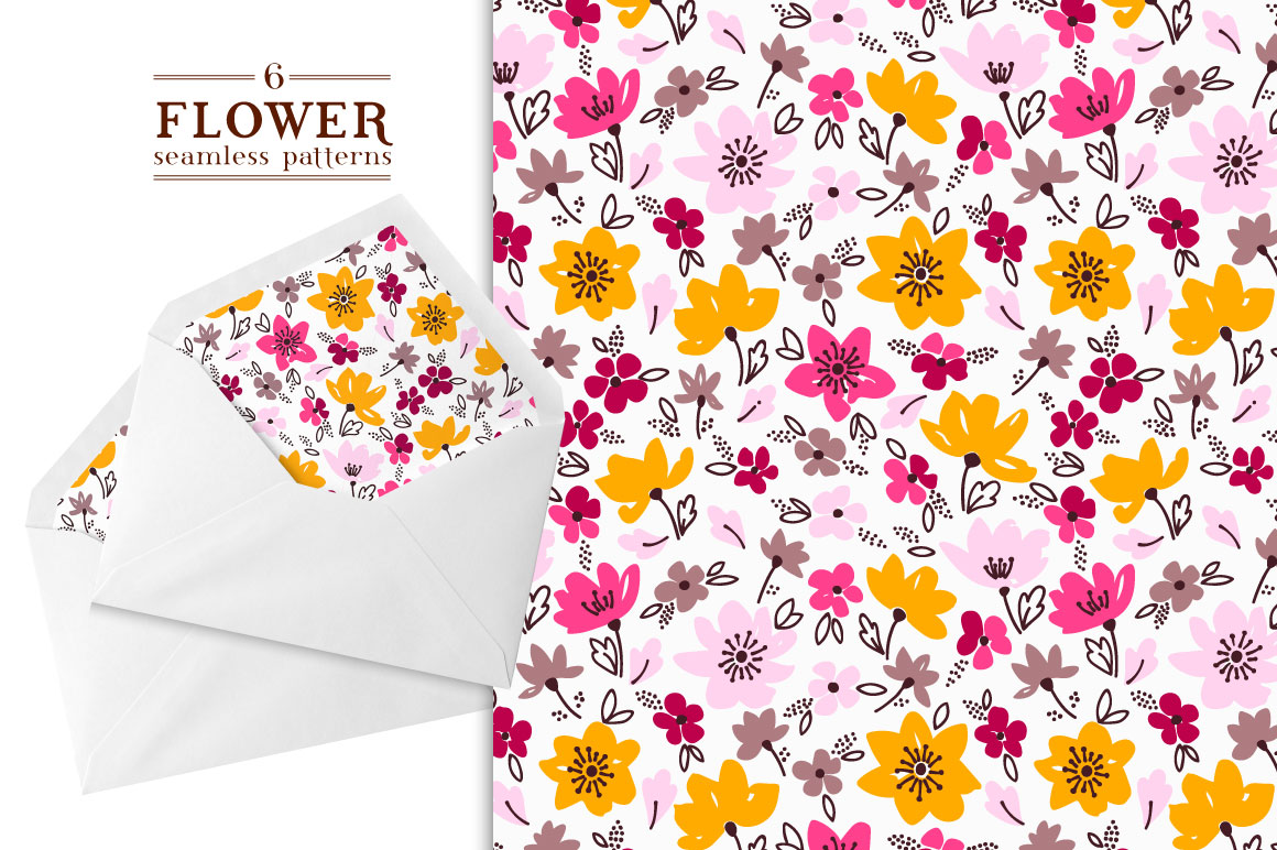 Spring Floral Pattern in 6 Colors