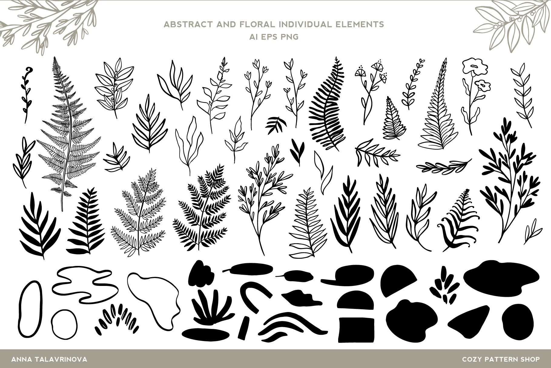 Fern & Abstract Pattern Collection