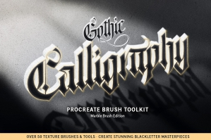 Ultimate Gothic Calligraphy Brush Toolkit