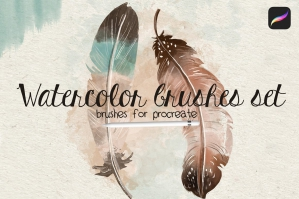 Watercolor Brushes Set for Procreate
