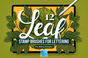 12 Leaf Affinity Stamp Brushes
