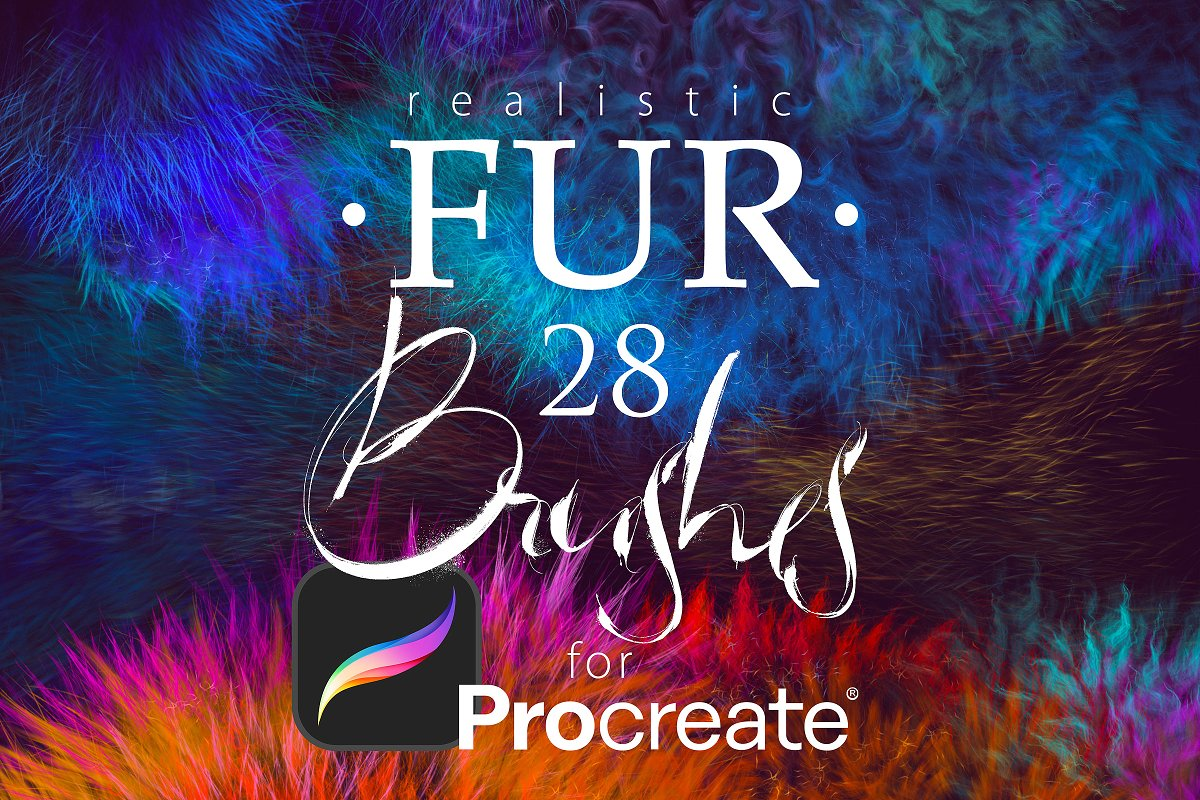 28 Realistic FUR 4 Procreate
