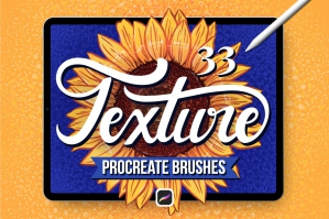 33 Textured Finish Procreate Brushes