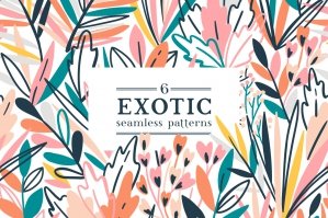 6 Exotic Seamless Patterns