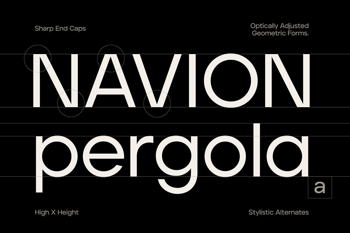 Aventa Geometric Variable Typeface