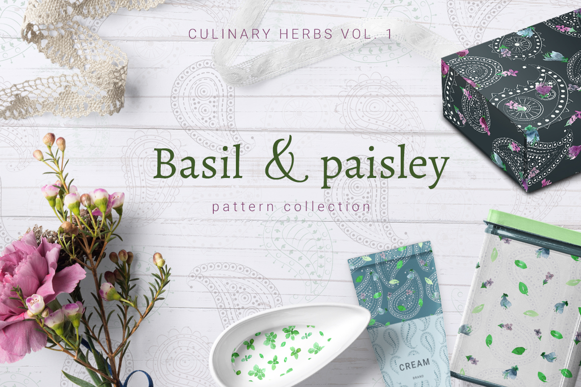 Basil Paisley Pattern Collection Design Cuts