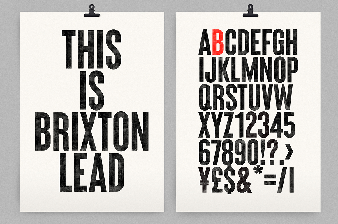 Brixton SVG Handprinted Fonts