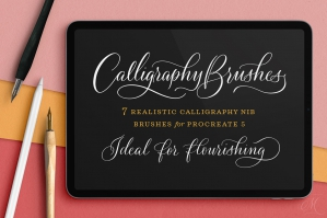 Calligraphy Nibs Procreate Brush Pack