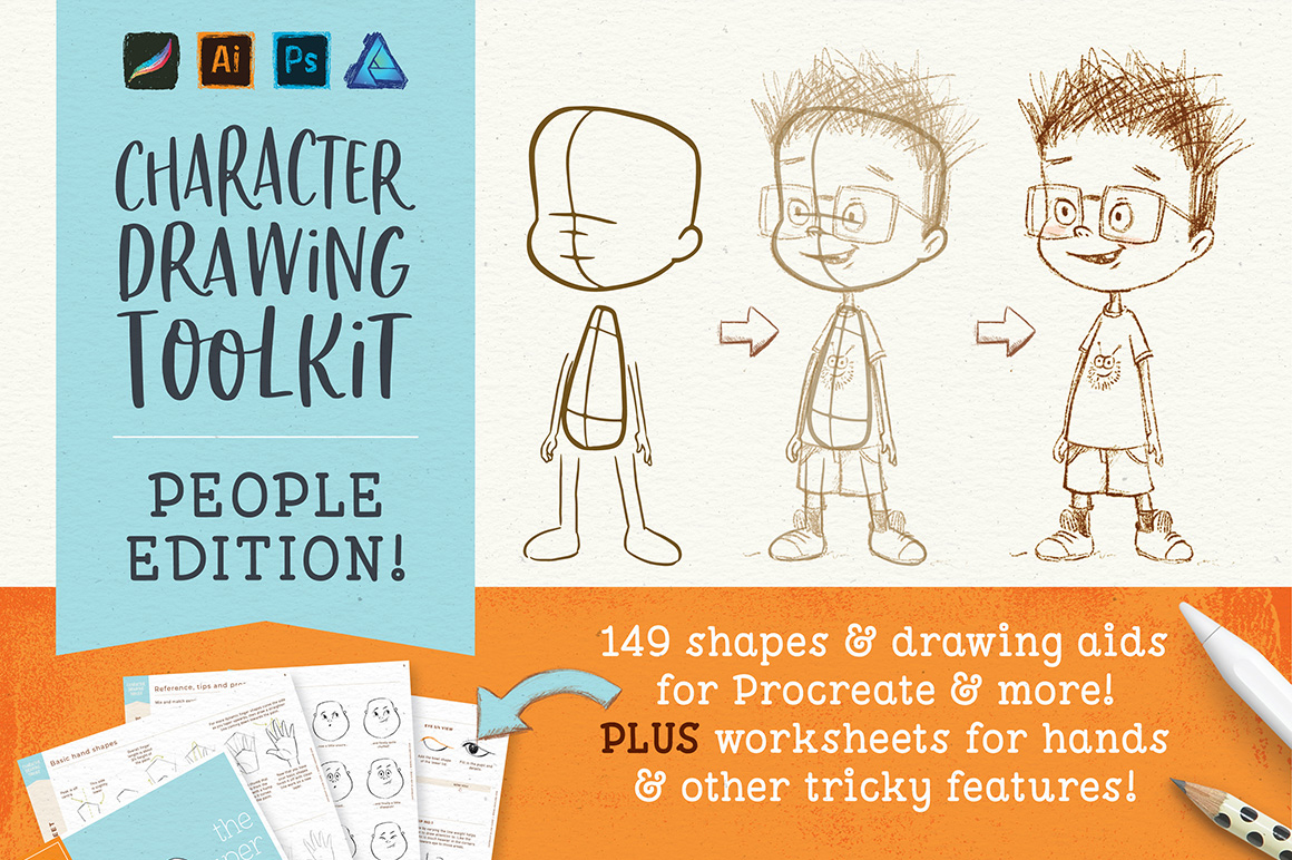 Character Drawing Toolkit - People Edition