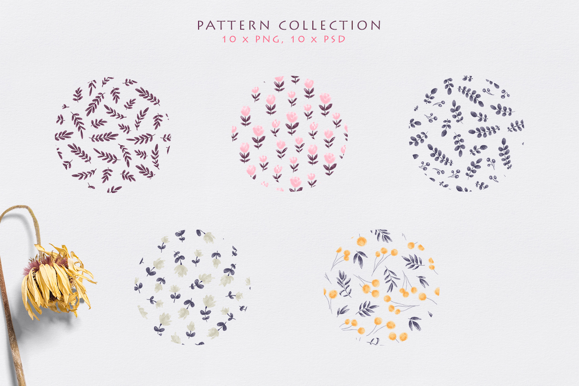 Evening Dreaming - Floral Pattern Collection