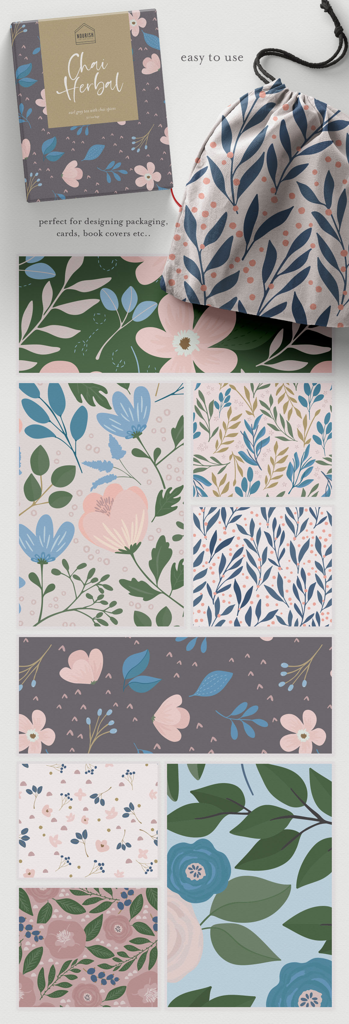 Floral Garden Seamless Patterns