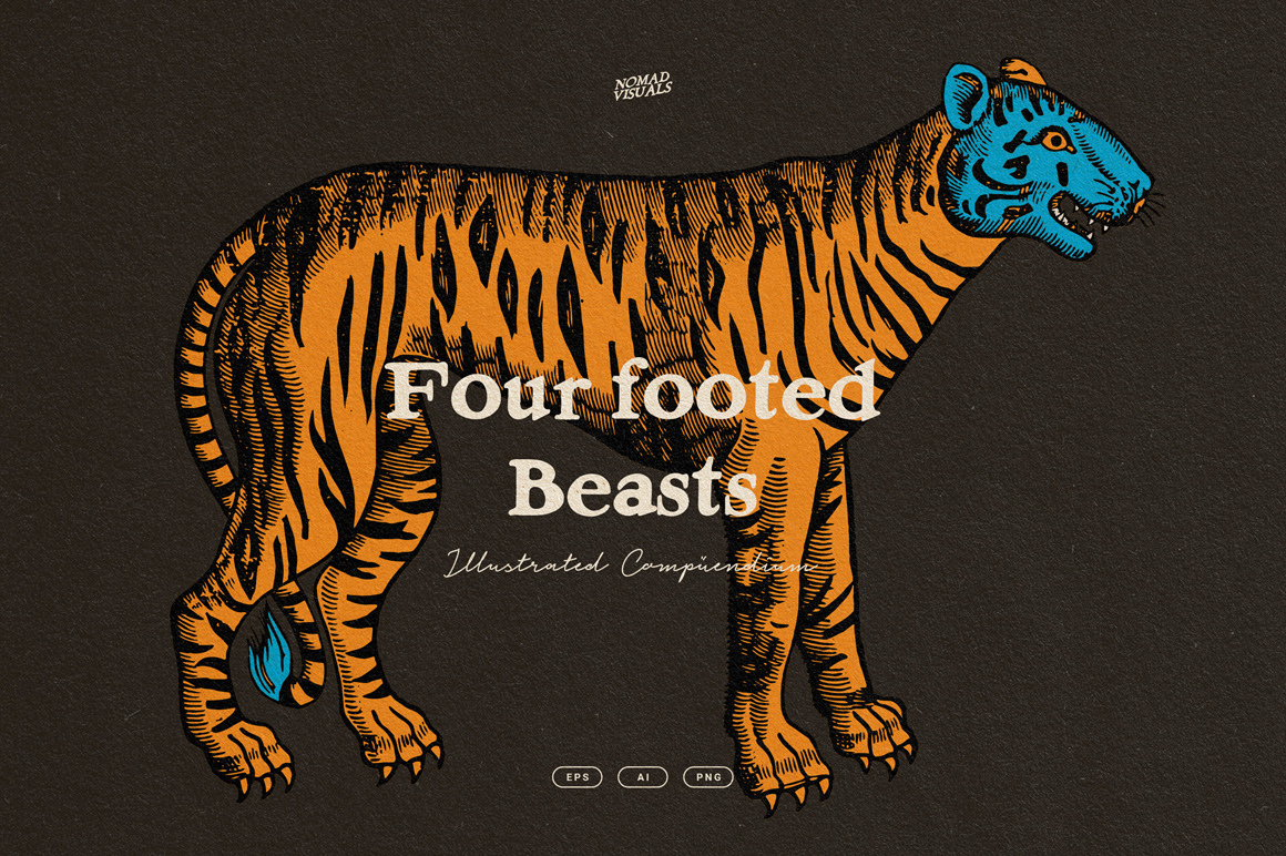 Four Footed Beasts Illustrations