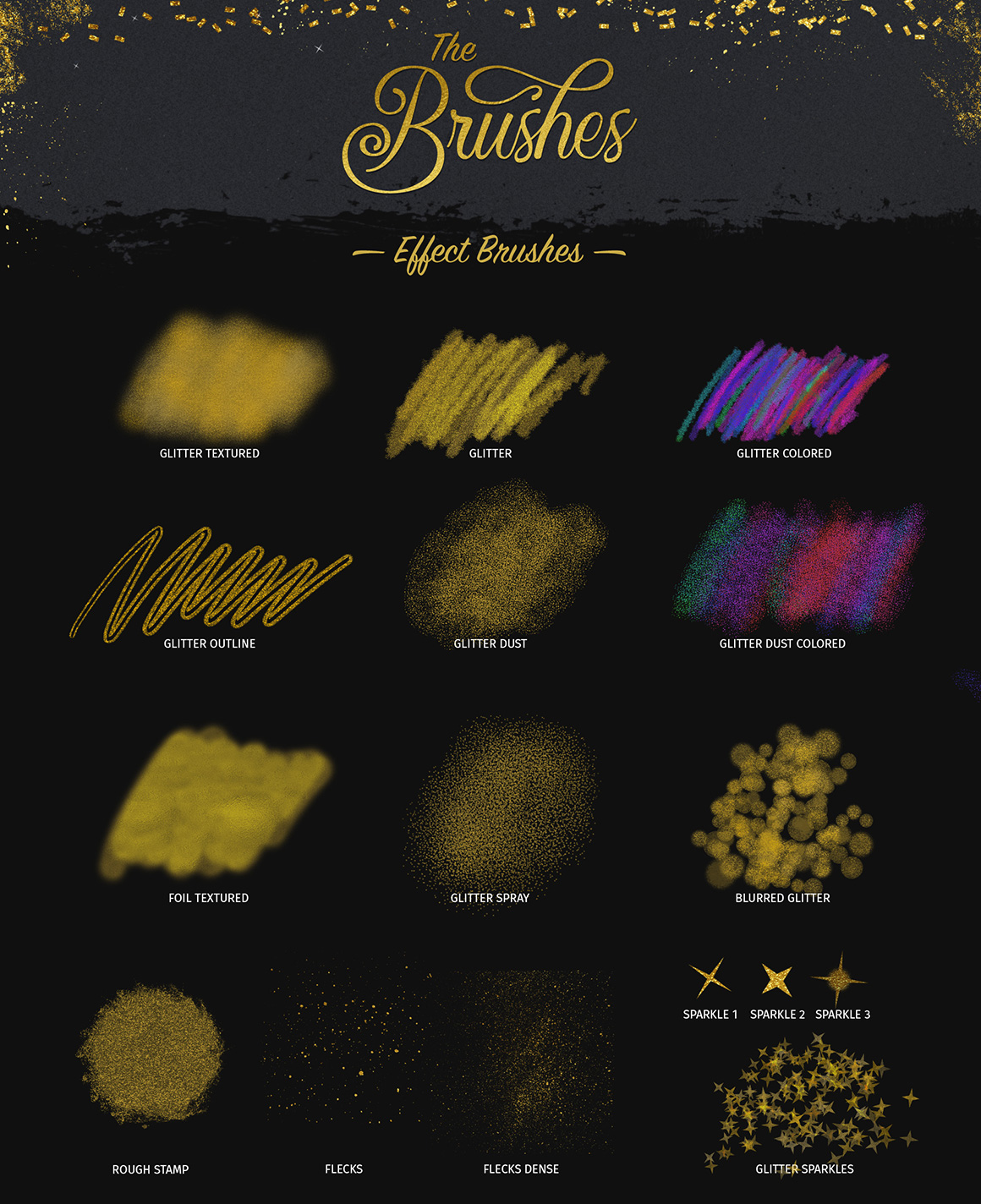Glitter and Foil Kit for Affinity Designer