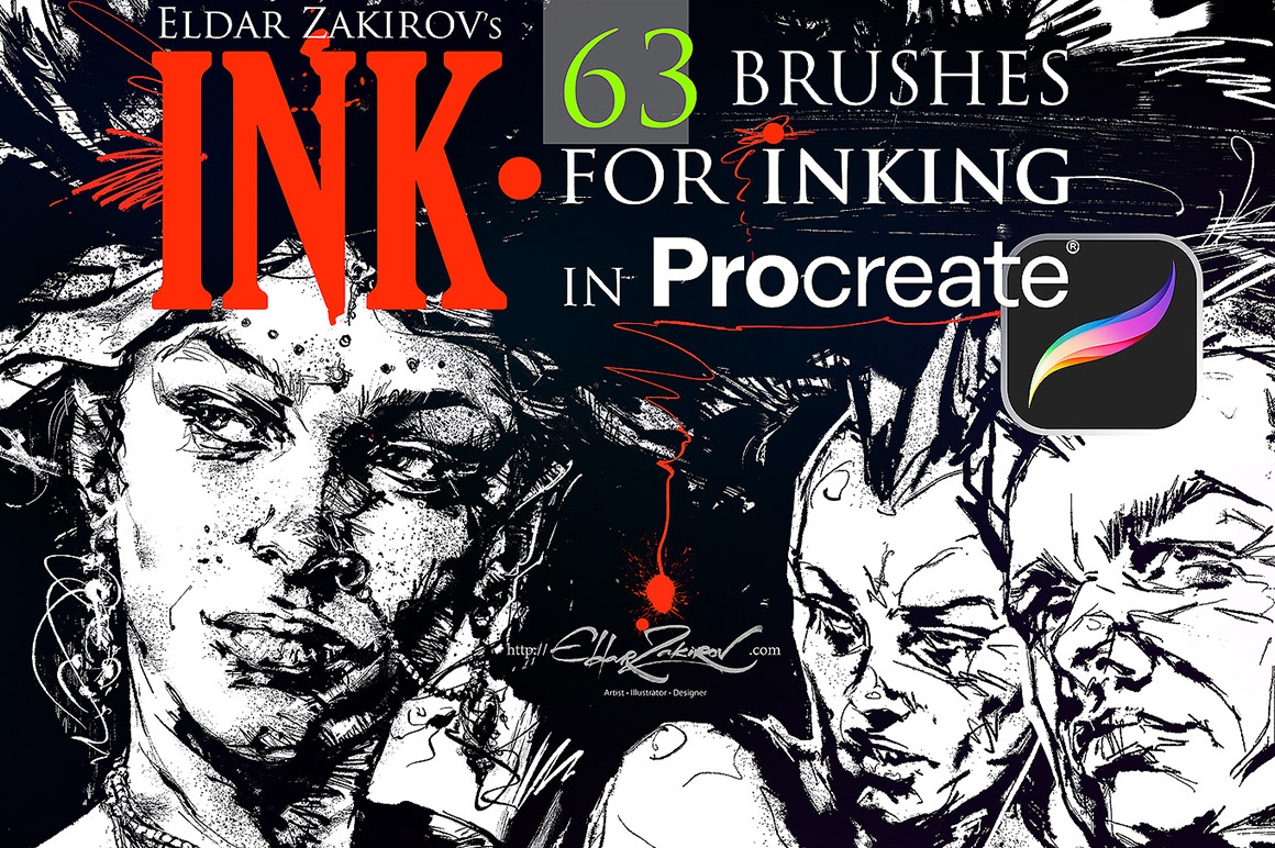 INK 4 Procreate: 63 Brushes