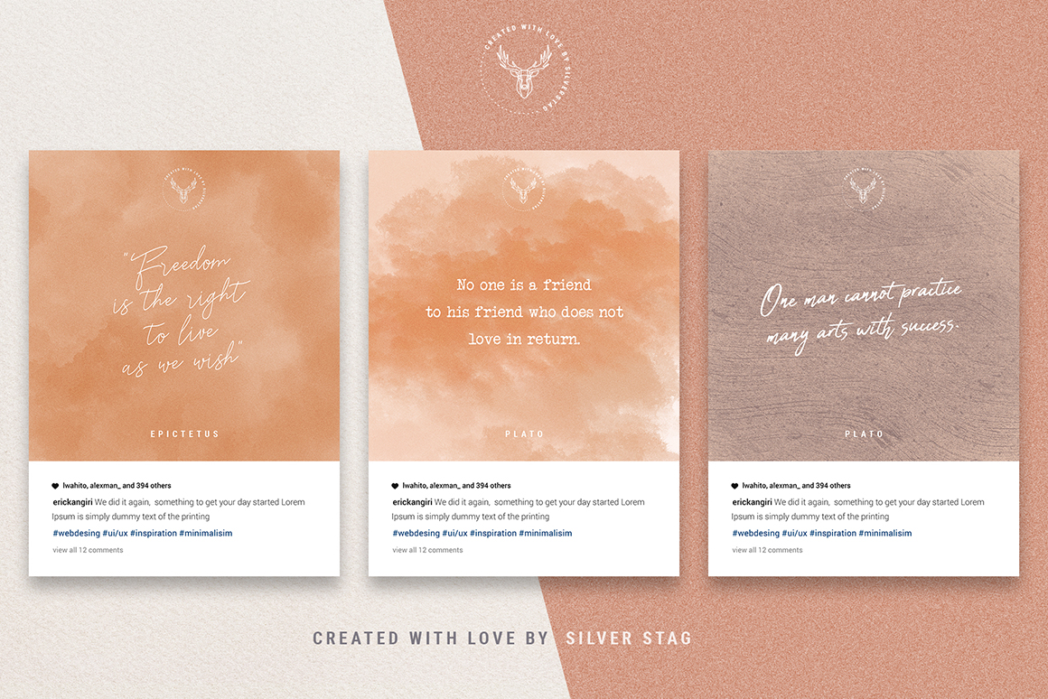InstaQuotes - 40 Instagram Post Quote Templates