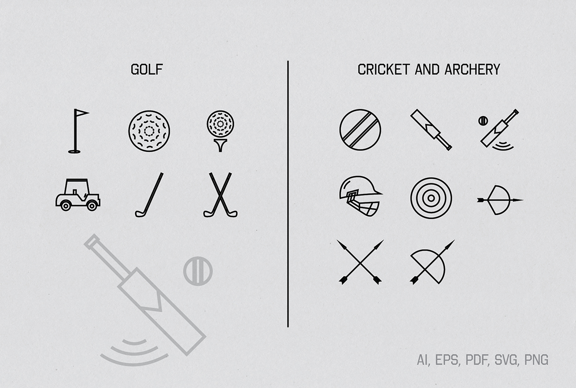 Linear Sports Icons