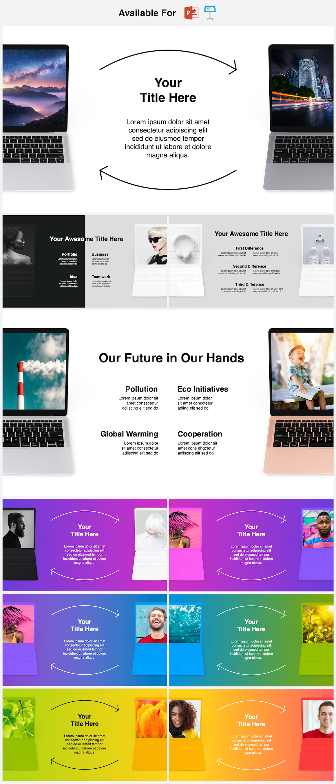Mockups Bundle! PowerPoint & Keynote Infographics