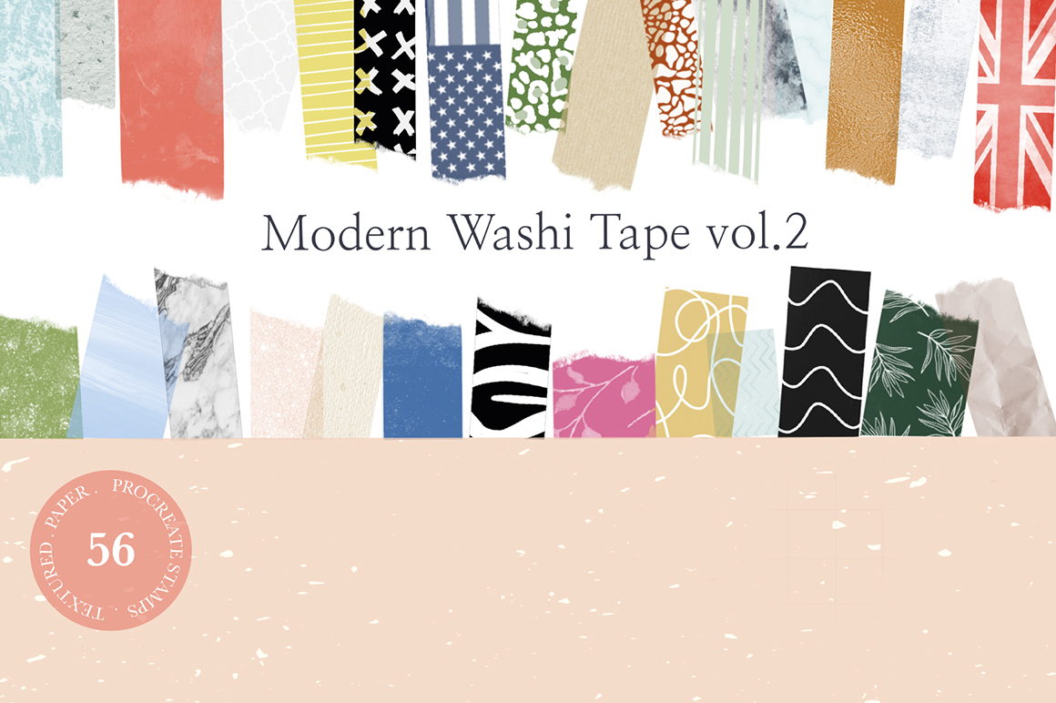 Modern Washi Tape Procreate Brushes - Vol. 2
