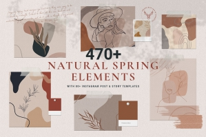 Natural Spring & Instagram Elements