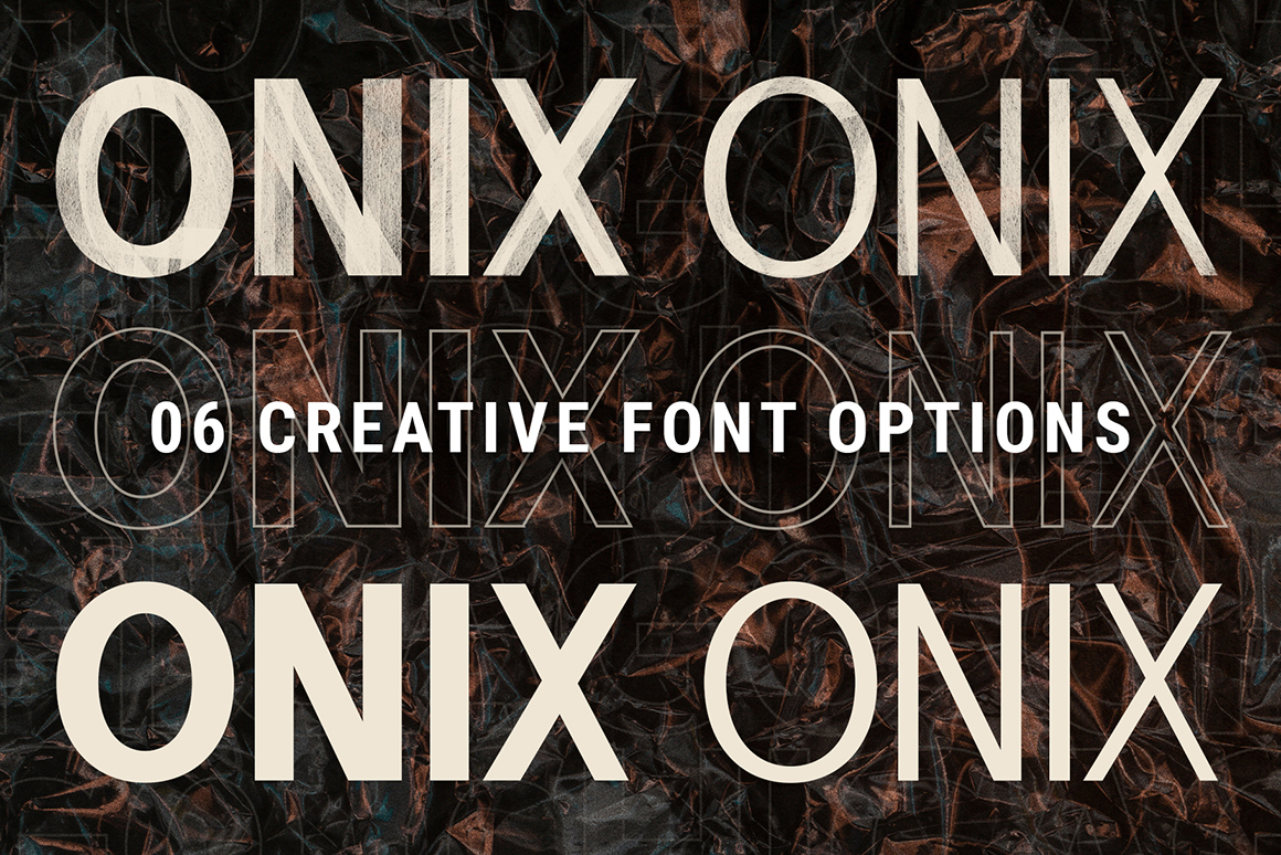 Onyx - Hand-Painted .SVG 6 Font Pack