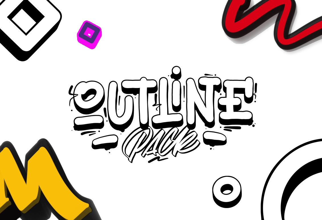Outline Brushes for Procreate - Outline Pack