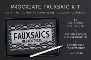 Procreate Fauxsaic Brush Kit