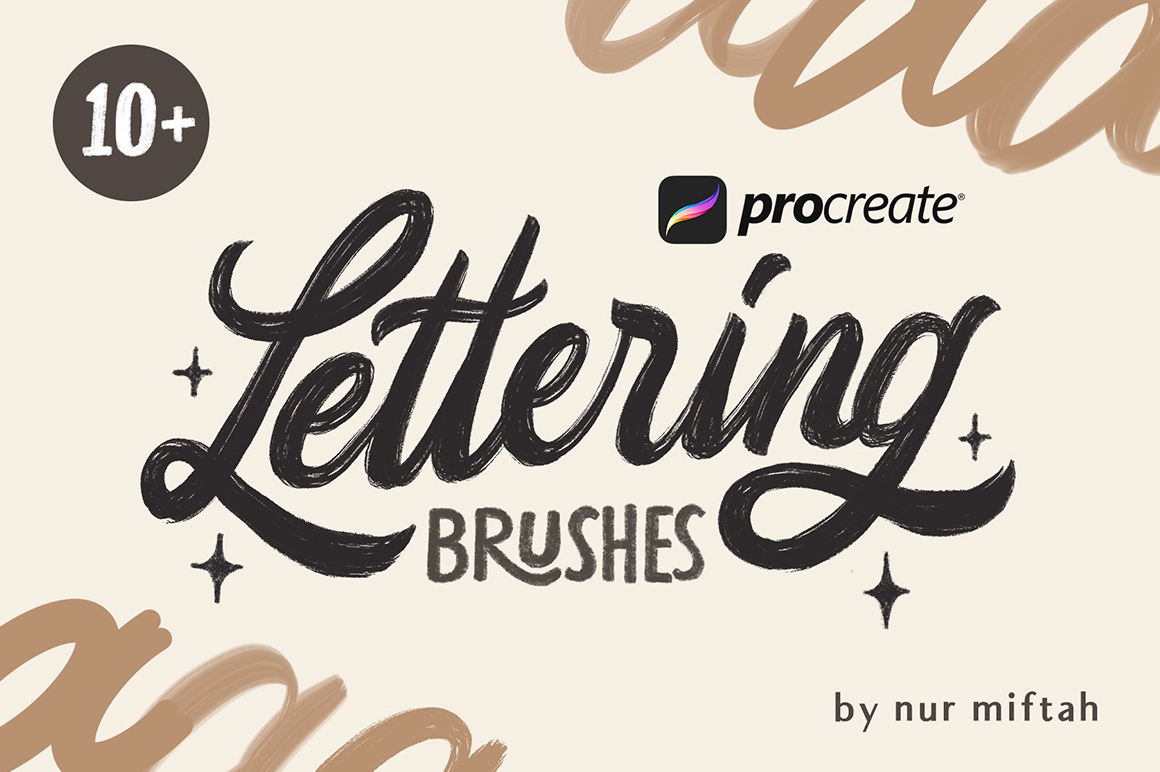10+ Procreate Lettering Brushes