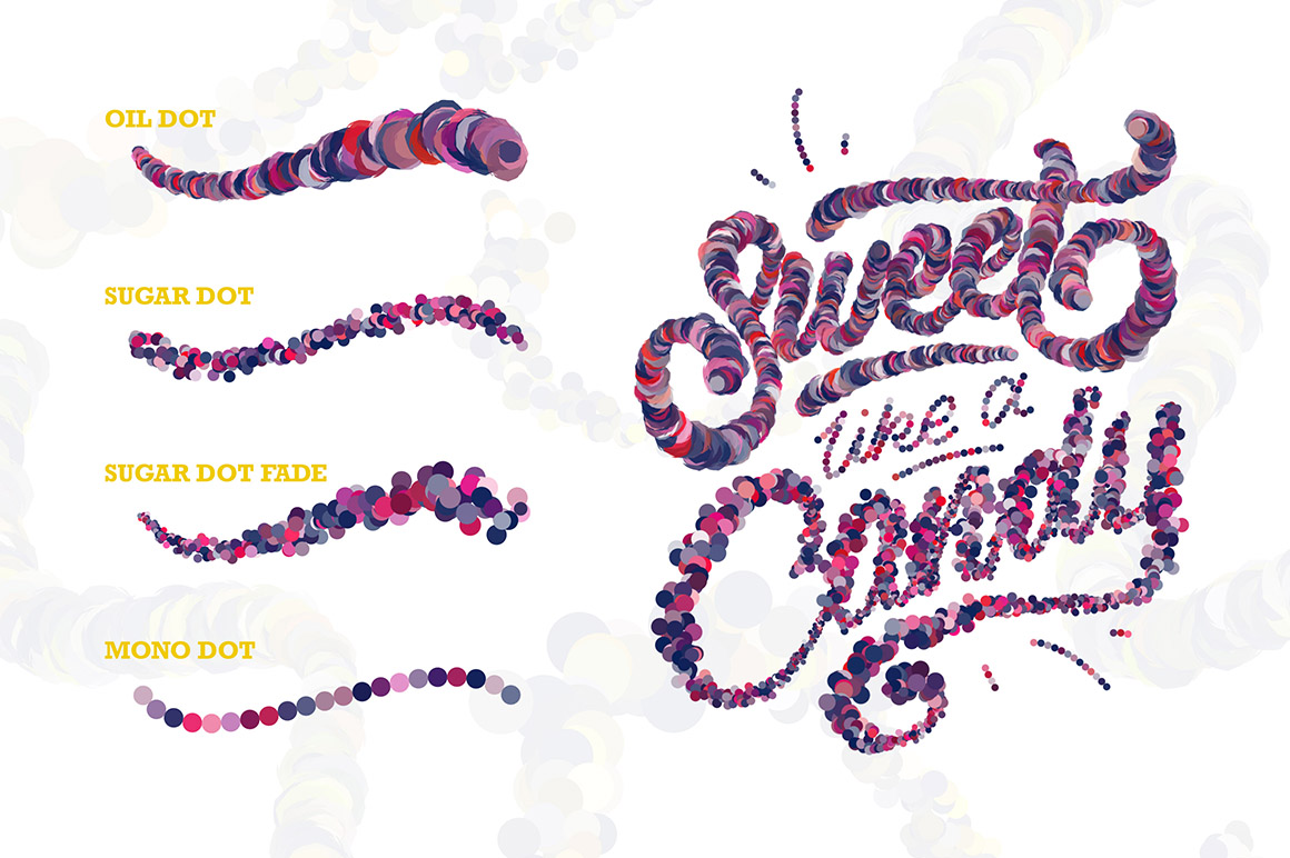 Sugar Letters Brush Pack