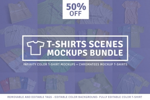 T-Shirt Scenes Mockups Bundle