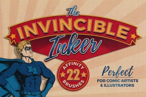 The Invincible Inker - 22 Affinity Inking Brushes