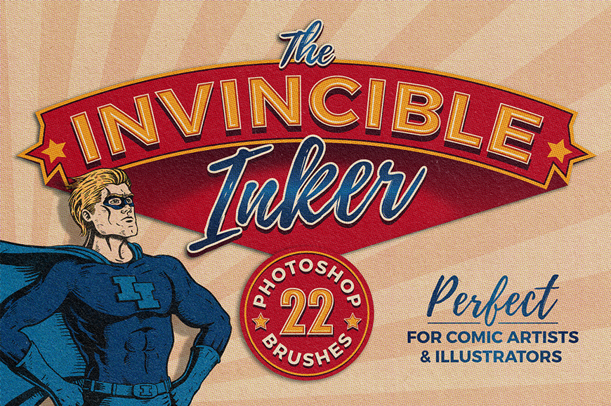 The Invincible Inker - 22 Photoshop Inking Brushes