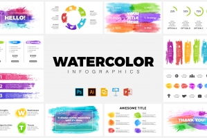 Watercolor Infographics - Presentation Templates