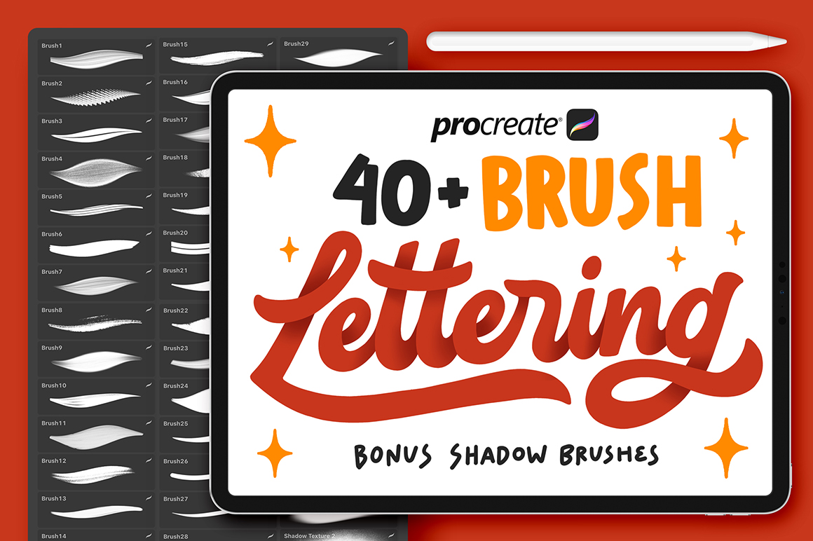 40+ Procreate Lettering Brushes