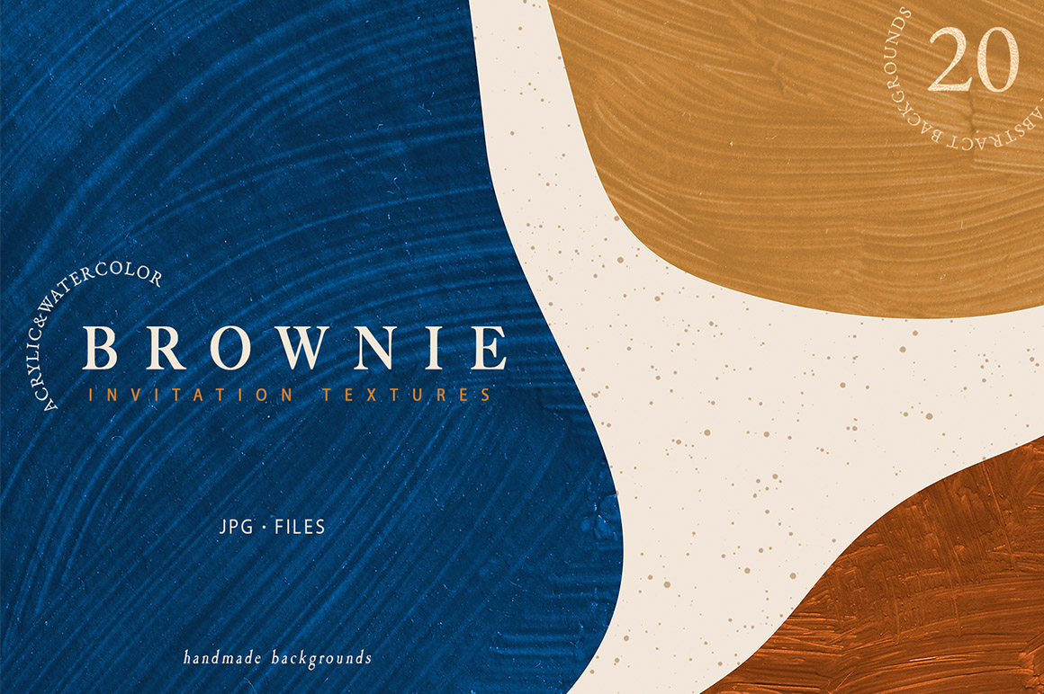 Brownie Invitation Textures