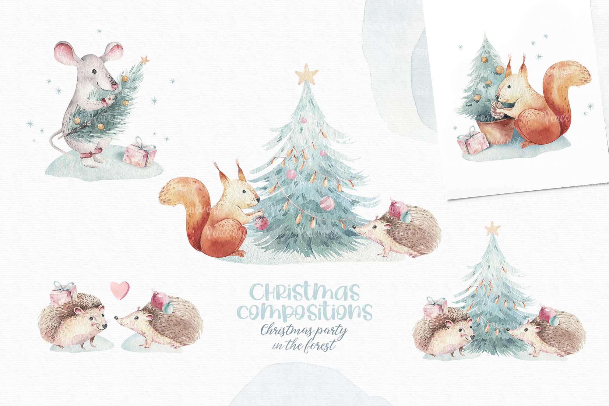 Christmas Party in the Forest - Winter Animals