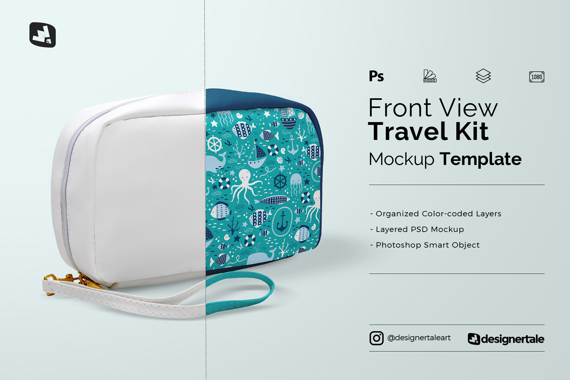 Front View Travel Kit Mockup