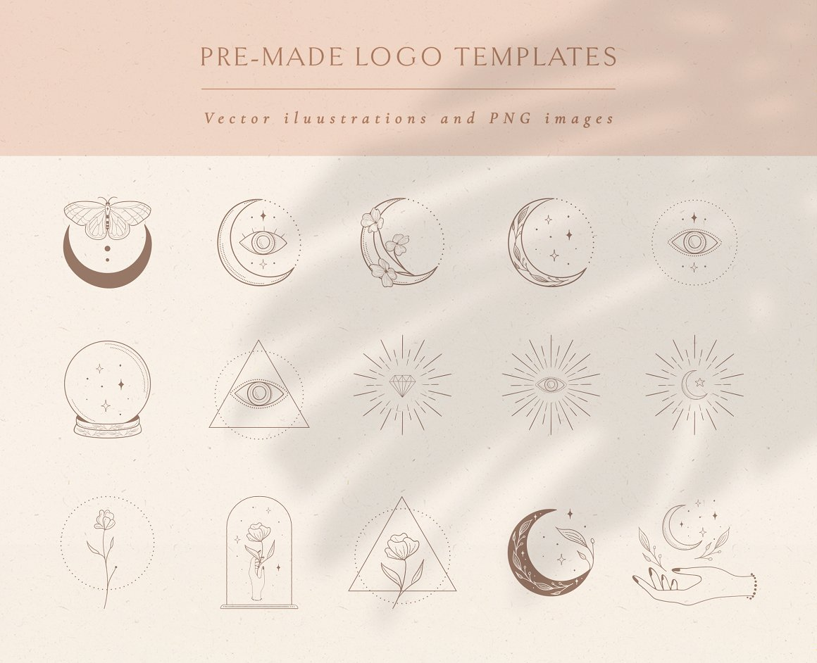 Logo Design Elements and Pre-made Logo Templates